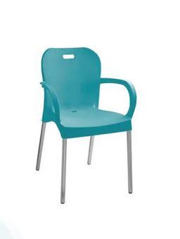 Cadeira com pé de alumínio com braço …