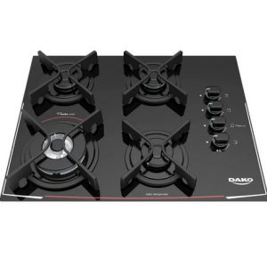 Cooktop 4 bocas Dako Glass Preto Turbo C…